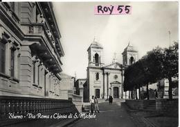 Campania-avellino-sturno Veduta Via Roma Veduta Chiesa Di S.michele Anni 50 - Italia