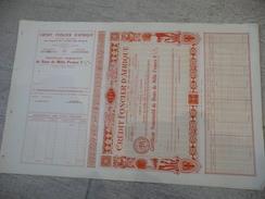 DAKAR - Crédit Foncier D'Afrique Certificat Nominatif De Bons De 1000 F 5,5%  1929 - Avec TALON - Afrique