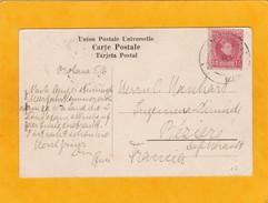 1909 - CP Du Maroc Espagnol Vers Béziers, France - Vue : Casablanca - Porte De La Marine - Affrt 10 Cent. - Spanish Morocco