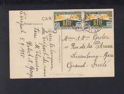 Carte Postale Le Treport 1925 Exposition Internationale - Poststempel (Briefe)