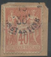 Lot N°35818   N°94/fragment, Oblit Cachet à Date ETRANGER De CONSTANTINE - 1876-1898 Sage (Type II)