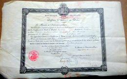 DIPLOME DE LICENCIE EN DROIT 31 TOULOUSE 1908 ACCODE AU SIEUR CHENE  CACHETS ET SIGNATURES - Diploma & School Reports