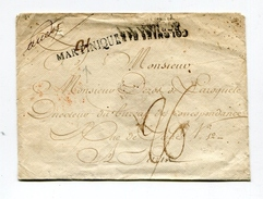 !!! ENTREE MARITIME, ENVELOPPE DE LA MARTINIQUE DE 1816 CACHET COLONIES PAR BORDEAUX - SANS TEXTE - Postmark Collection (Covers)