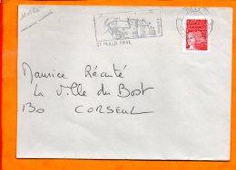 ILLE ET VILAINE, St Malo, Flamme SCOTEM N° 11056a, Jacques Cartier Musée Du Limoelou, SECAP DC, Dateur Inversé - Marcophilie (Lettres)