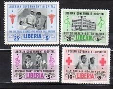 1954 Red Cross MNH Mi. 456-9 (L9) - Liberia