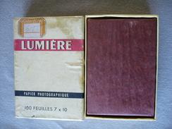 100 Feuilles 7 X 10 - Papier Photographique Lumière - T13/3 - Lumitra - Mince Brillant Chamois - Dur - Encore Emballé - Matériel & Accessoires