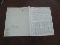 Conditions De Recouvrements De Rouilley Nancy 54 1821 Autographe - Banque & Assurance