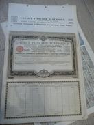 DAKAR - Crédit Foncier D'Afrique Certificat Nominatif D'obligations De 500 F 6,5%  1929 - Avec TALON - Afrique