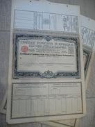 DAKAR - Crédit Foncier D'Afrique Certificat D'actions A De 500 F Nominatives 1929 - Avec TALON - Afrique