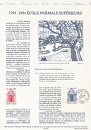 DOCUMENT 1994 BICENTENAIRE ECOLE NORMALE SUPERIEURE - Documenten Van De Post
