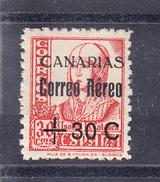 ESPAÑA-CANARIAS 1937 .EDIFIL Nº 40 HABILITADO 80 CENT. SOBRE 30 CENT NUEVOS SIN CHARNELA.  SES511GRANDE - Emissions Nationalistes