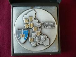 Médaille 6e Régiment Du Matériel - Dans Coffret - Blasons - Éditions J. BALME - Saumur - Maître Médailleur Depuis 1833 - Francia