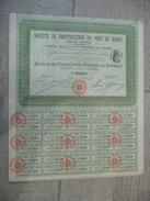 BRESIL Société Anonyme De Construction Du Port De Bahia 1908 - Navigation