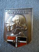 """Broche """" Plutôt Mourir Que Faillir """" - 46e RI - Duc De Bretagne - Kermoysan - Signé Arthus Bertrand - Militaria - Blason - Autres"""