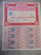 Action De La Société Anonyme Des Chalumeaux E.ROYER,tous CouponsLYON 1924 - Electricité & Gaz