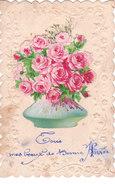 Carte Postale Ancienne Fantaisie - Fleurs - Roses - Ajoutis - Fancy Cards