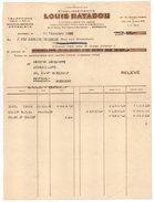 Facture--1951-BORDEAUX--Ets Louis RATABOU Quincaillerie En Gros Pour Quincaillerie Bustarret RIBERAC -24 - France
