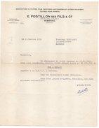 Facture--1952--RIBERAC-24-E.POSTILLON Ses Fils &Cie(feutres,cartonneries) Pour Quincaillerie Bustarret RIBERAC -24 - France