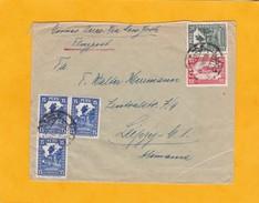 1930 - Enveloppe Par Avion De Lima, Pérou Vers Leipzig, Allemagne Via New York, USA - Flugpost - Perú