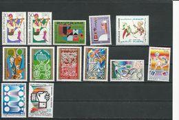 TUNISIE  Timbres NEUFS SANS Charniere Voir Détail (13) ** Cote 6,20$ 1968-74 - Tunisie (1956-...)