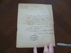 Musées Royaux 2/09/1831 Certification De Remise D'arme Arbalète Mr DE BRIGER - Documents Historiques