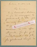 L.A.S 1914 Gabriel NIGOND Ancien Directeur Compagnie Du Chemin De Fer D'Orléans - Bordeaux - Lettre Autographe WW1 - Autographes