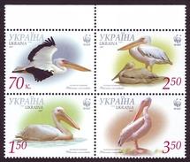 UKRAINE 2007. WWF. GREAT WHITE PELICAN. Mi-Nr. 897A-900A. MNH (**) - W.W.F.