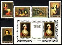 RUSSIA / RUSSIE - 1985 - Musee De L´ermitage A Leningrad - Peintre Espagnole - 5v + Bl** - 1923-1991 URSS