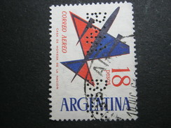 Perfore ,FIRMENLOCHUNG     ,  Perfin ,   2 Scans - Argentinien