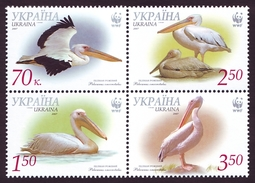 UKRAINE 2007. WWF. GREAT WHITE PELICAN. Mi-Nr. 897A-900A. MNH (**) - Pélicans