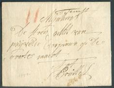 Lac De TAMISE (griffe Manuscrite 'Temse') Du 20 Avril 1791 Vers Bruxelles; Port 'II' (craie Rouge).  TB  - 11733 - 1714-1794 (Oostenrijkse Nederlanden)