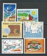 TUNISIE Scott 767, 764, 769-770, 765, 768 Yvert 918, 915, 920-921, 916, 919 (6) ** Cote 3,60$ - Tunisie (1956-...)