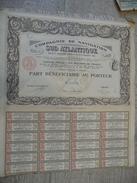 Compagnie De Navigation SUD ATLANTIQUE 1914 Part Au Porteur Avec Coupons - Navigation