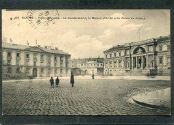 CPA - NANTES - Place Lafayette - La Gerdamerie, La Maison D'Arrêt Et Le Palais De Justice, Animé - Nantes