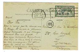 PARIS 1924 Cachet Jeux Olympiques Sur Cpa Affranchie