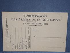 FRANCE - Carte En FM Non Voyagée - L 6444 - Cartes De Franchise Militaire