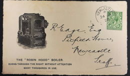 Great Britain 1928 Advertising Cover, Front Only. The Robin Hood Boiler - 1902-1951 (Kings)