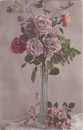 Carte Postale Ancienne - Fantaisie -  Fleurs - Roses - Fantaisies