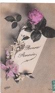 Carte Postale Ancienne - Fantaisie -  Fleurs - Roses - Bonne Année - Fantaisies