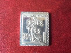 Timbre De France - Préoblitéré Semeuse 30 Centimes De 1922 - 1982 (7 Grammes En Argent 925/1000 ) Poinçon Crabe - Préoblitérés