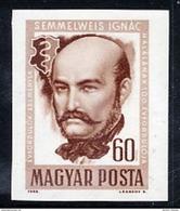 HUNGARY 1965 Semmelweis Centenary Imperforate MNH / **.  Michel 2163B - Hungary
