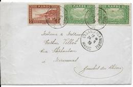 MAROC - 1938 - ENVELOPPE De CASABLANCA - BOURSE => MIRAMAS - Marokko (1891-1956)
