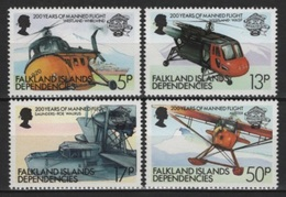 Falkland Dep. (1983) Yv. 116/19  /  Aircraft - Avion - Airplane - Flugzeug - Helicopter - Airplanes