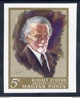 HUNGARY 1968 Kodaly Anniversary Imperforate  MNH / **.  Michel 2396B - Hungary