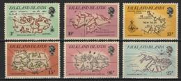 Falkland (1981) Yv. 318/23  /  Maps - Cartes - Mapas - Island - Antartide - Polar - Aardrijkskunde