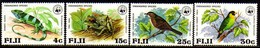 11286 Fiji 389/92 Wwf Passaros Sapos Iguana Nnn - Fiji (1970-...)