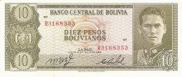 BOLIVIE   10 Pesos Bolivianos   L. 13/7/1962   P. 154a   UNC - Bolivie