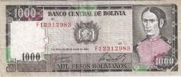 BOLIVIE   1000 Pesos Bolivianos   D. 25/6/1982   P. 167a - Bolivie