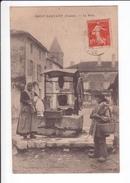 CPA Rare - SAINT SAUVANT - Le Puits - Villageois En Costume D'époque - Other Municipalities
