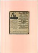 FRANCE . TISANE DES CHARTREUX  . PUB  DES ANNEES 1920 . DECOUPEE ET COLLEE SUR PAPIER . - Publicités